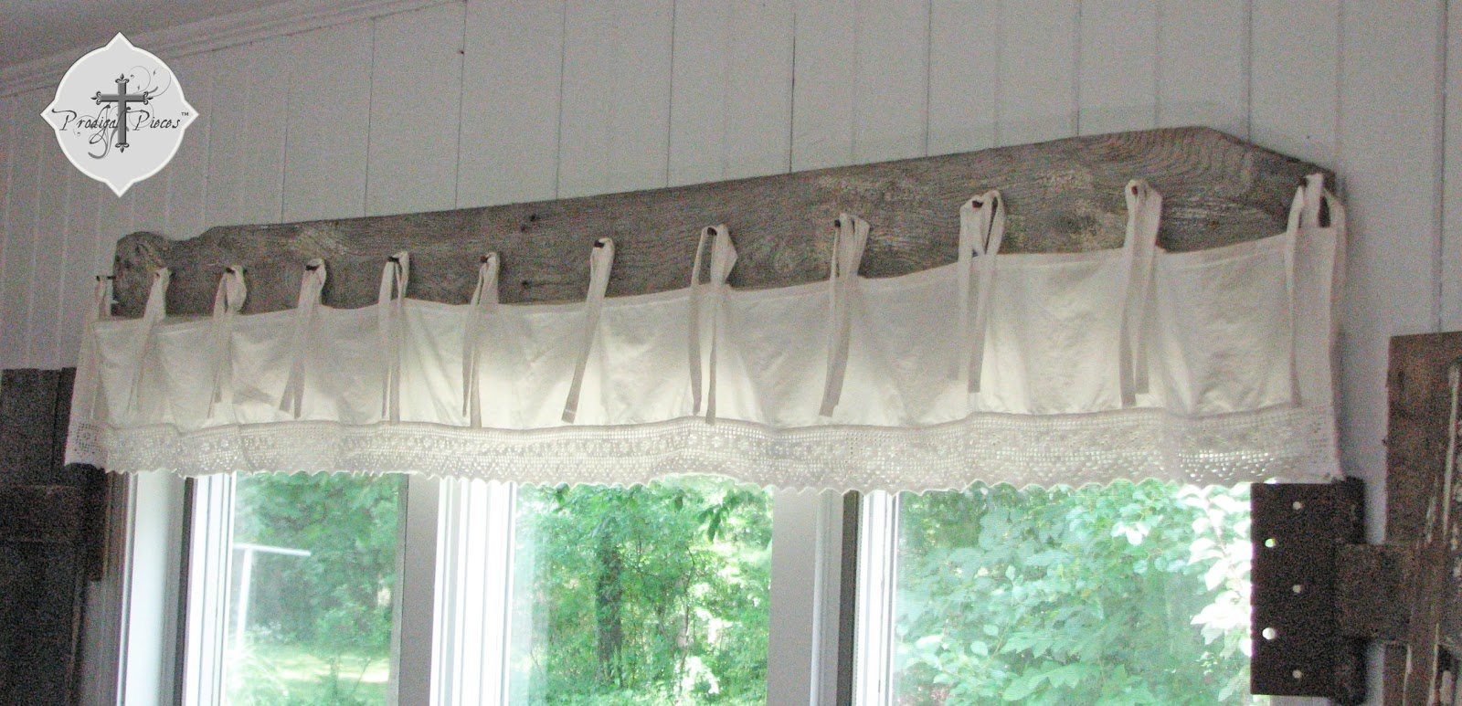 DIY Barn Wood & Bedskirt Valance Prodigal Pieces