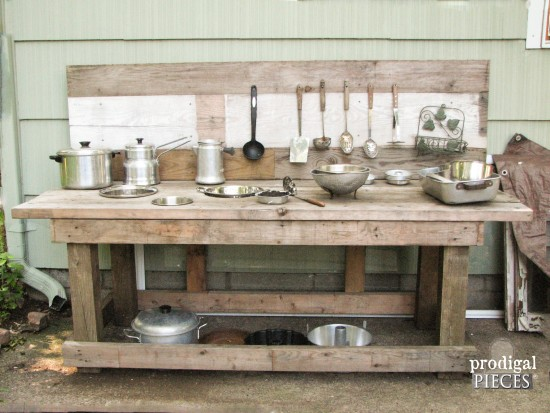 Build a Mud Bar Play Station out of Reclaimed Wood by Prodigal Pieces | www.prodigalpieces.com