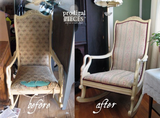 upholstered rocking chair redo prodigal pieces. Black Bedroom Furniture Sets. Home Design Ideas
