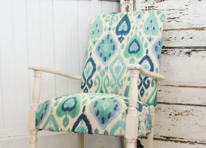 Worn-out Art Deco Rocking Chair Gets a Modern Ikat Facelift by Prodigal Pieces | www.prodigalpieces.com