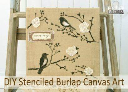 DIY Stenciled Burlap Canvas Art by Prodigal Pieces www.prodigalpieces.com #prodigalpieces