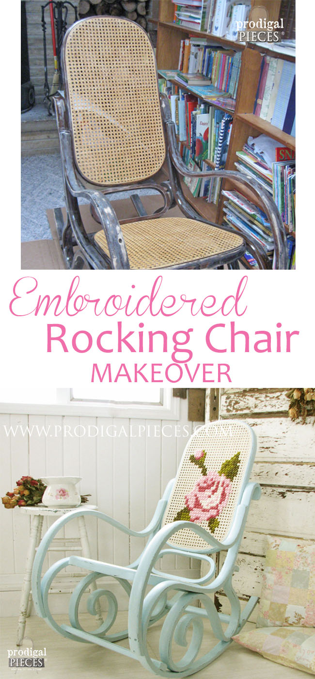 Bentwood rocking chair makeover -