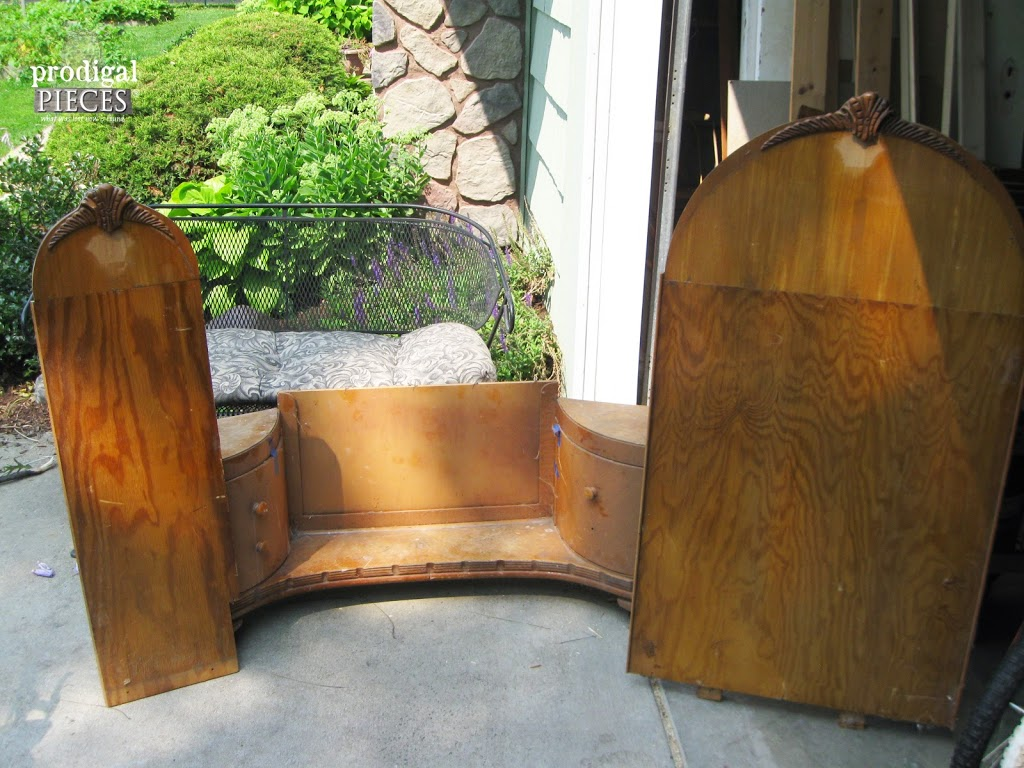 Curbside Art Deco Vanity in Pieces | www.prodigalpieces.com