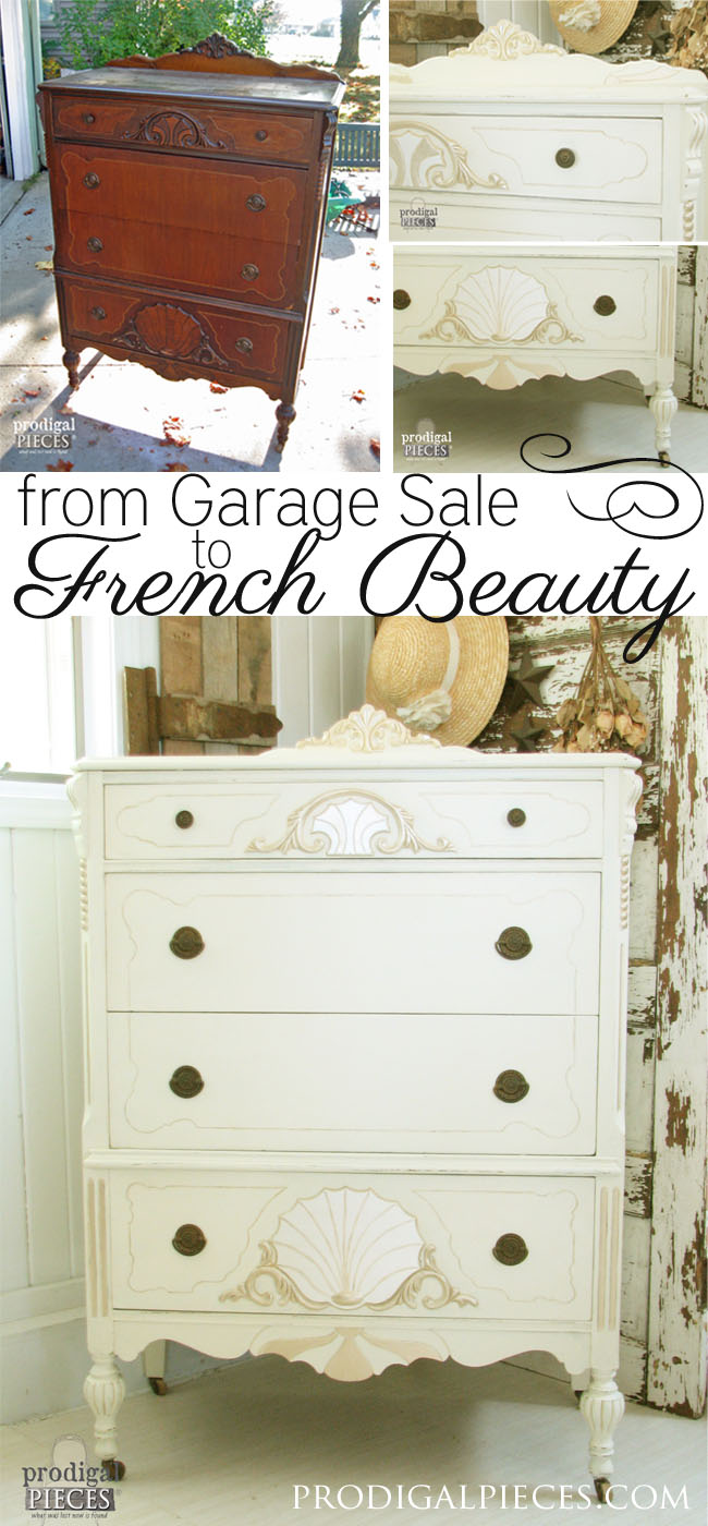 Garage Sale Find Gets French Makeover by Prodigal Pieces www.prodigalpieces.com