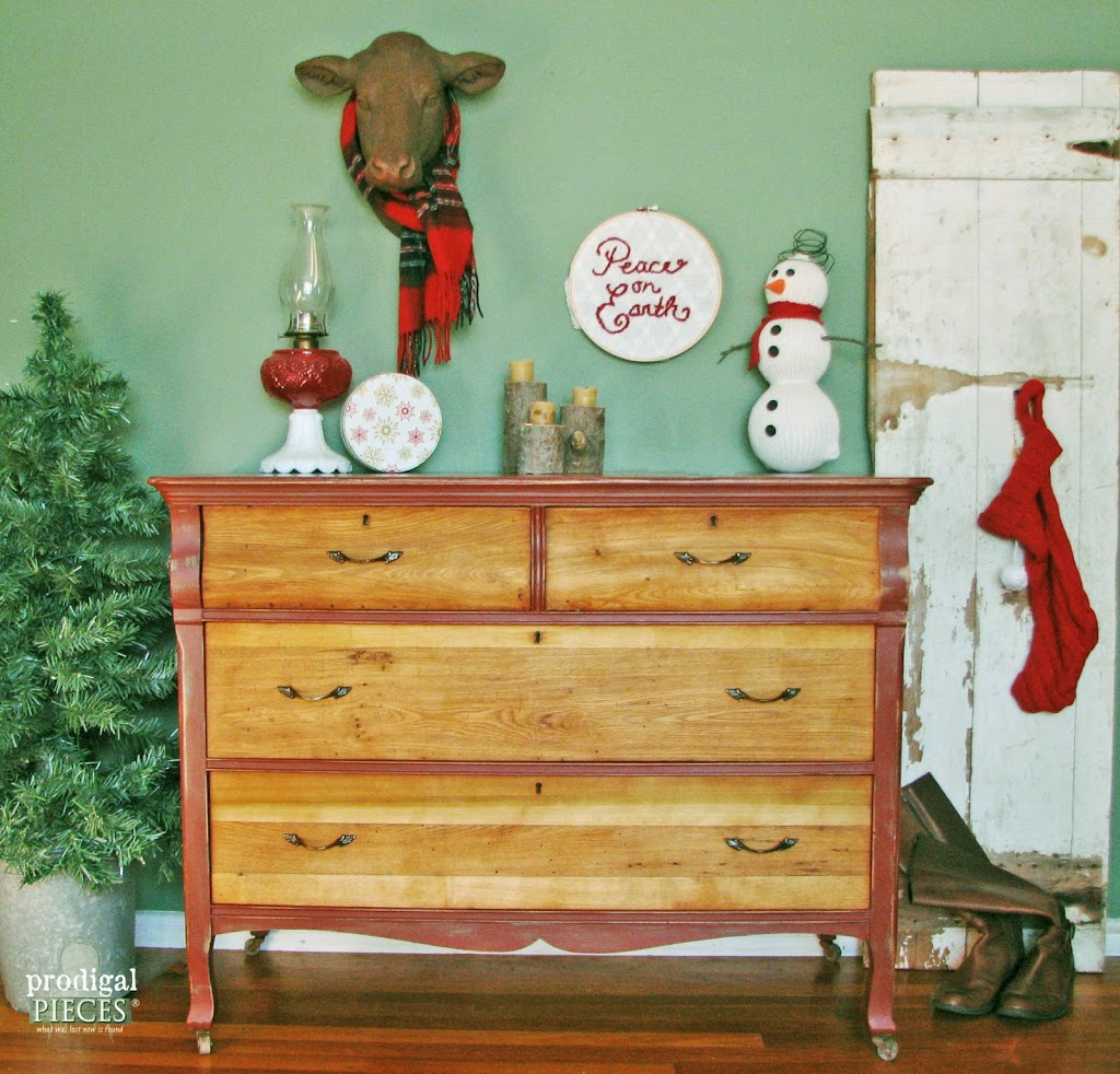 After Christmas Furniture Sales: Rustic & Red {Themed Makeover}
