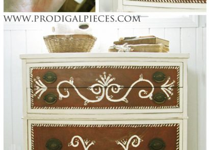 DIY: Repair Furniture with Polymer Clay by Prodigal Pieces www. prodigalpieces.com #prodigalpieces