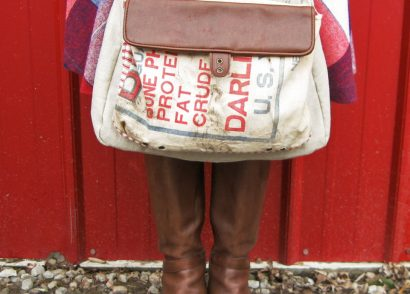 Handmade Feed Sack, Linen, and Leather Purse by Prodigal Pieces www.prodigalpieces.com #prodigalpieces