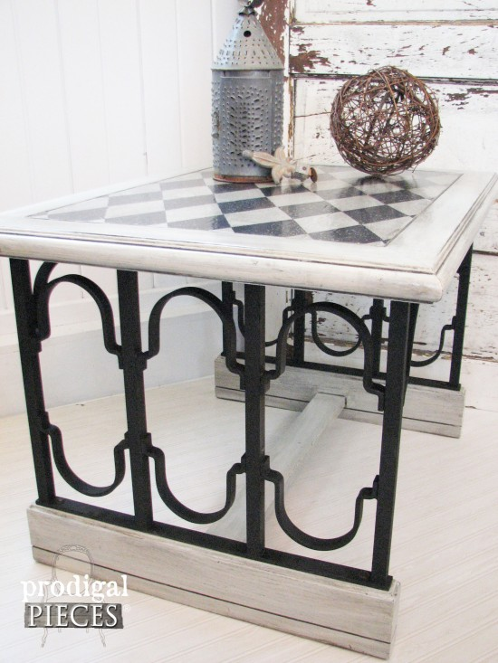 Harlequin Topped Car-Iron Table by Prodigal Pieces | www.prodigalpieces.com