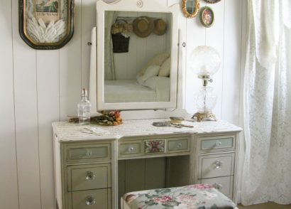 Hard to believe this antique dressing table was put curbside for city trash cleanup. From curbside to French beauty - a must see by Prodigal Pieces www.prodigalpieces.com #prodigalpieces