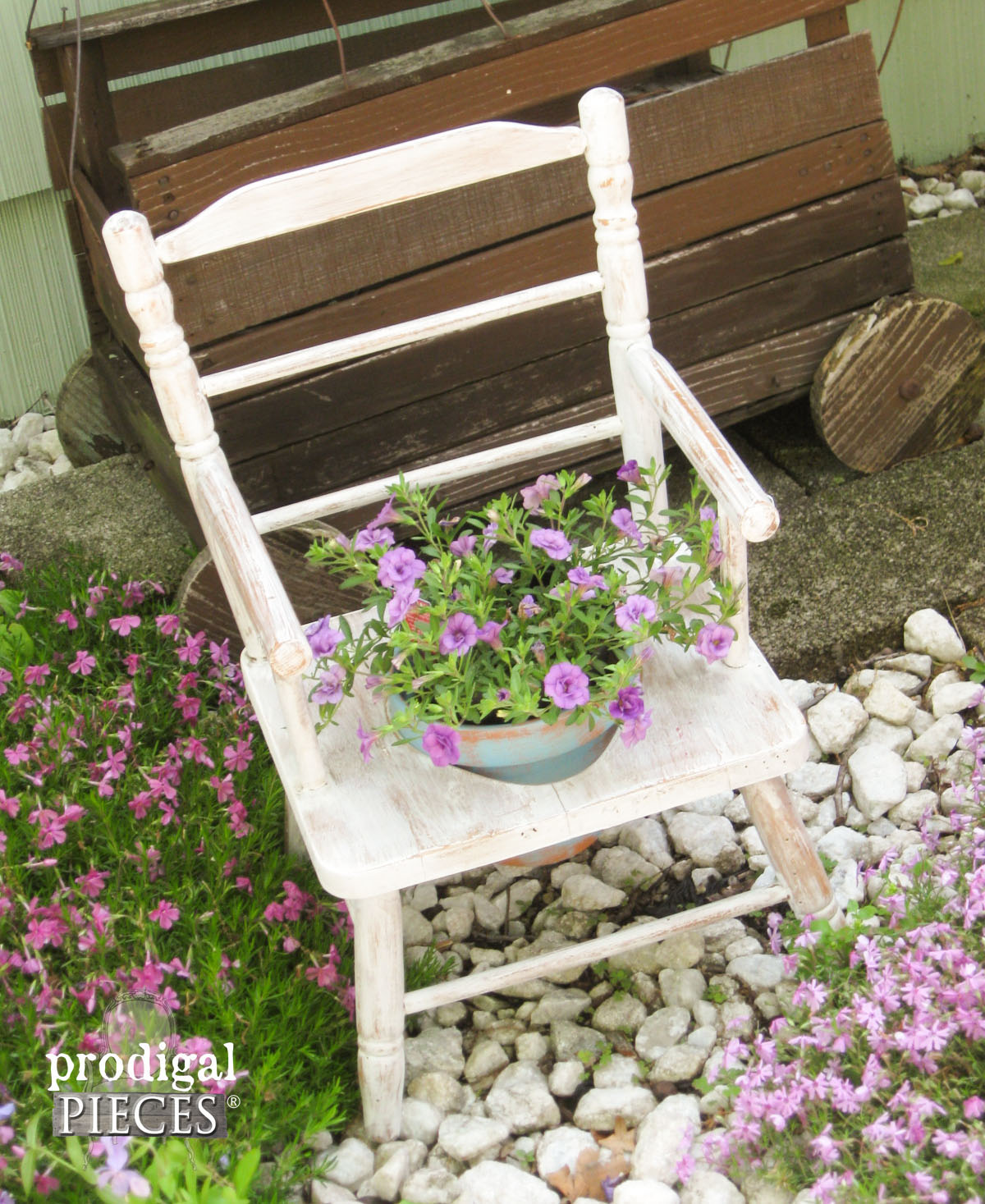 Potty Chair Turned Planter by Prodigal Pieces | prodigalpieces.com