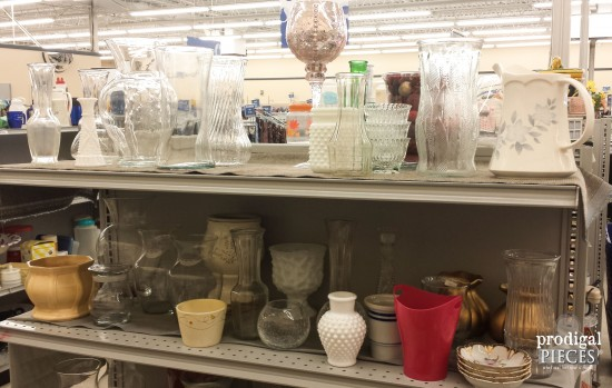 Thrift Store Glass Made New Budget DIY Prodigal Pieces