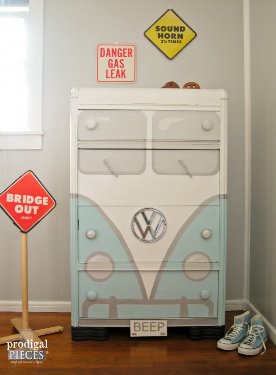 Volkswagen Bus Chest of Drawers | Prodigal Pieces | www.prodigalpieces.com