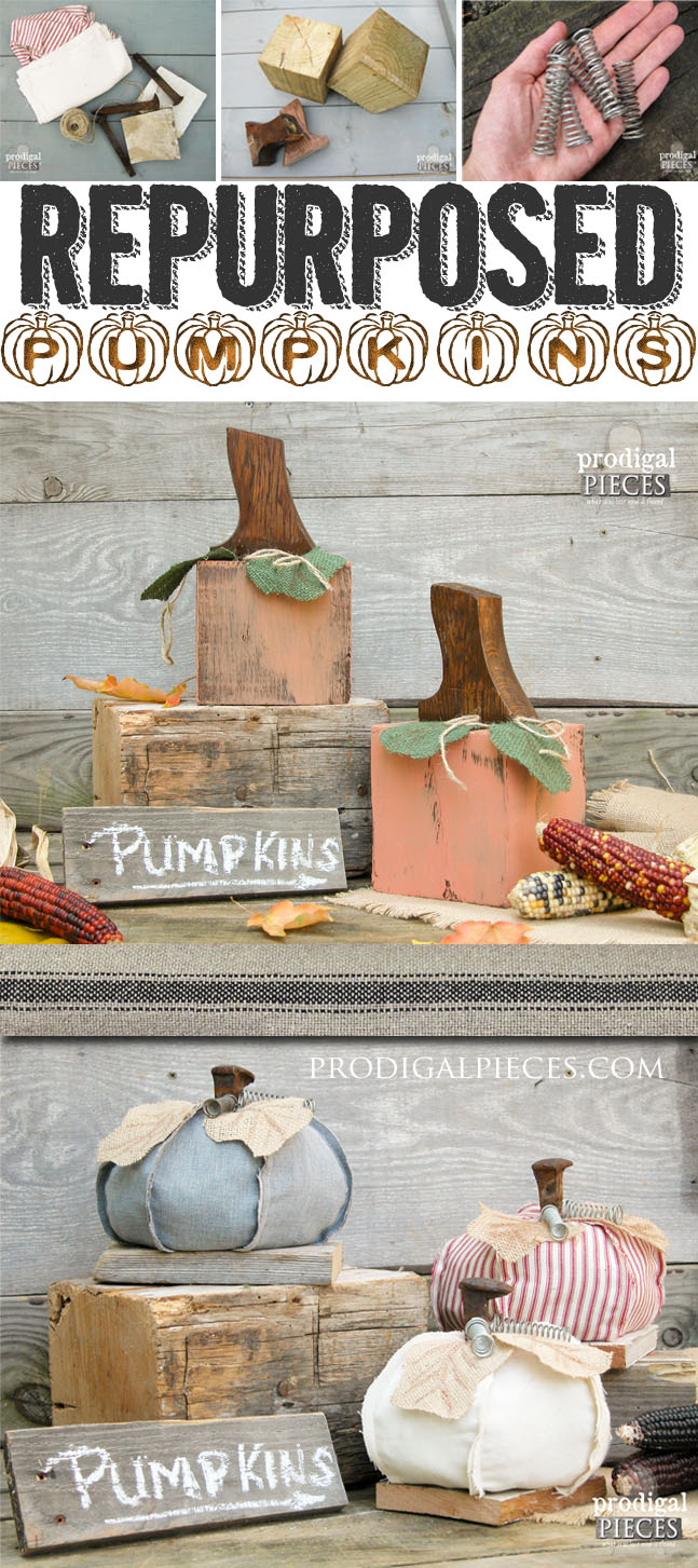 Getting junky with it and kicking off the fall season with some repurposed pumpkins. They'll make you ready to dig into your stash! by Prodigal Pieces | prodigalpieces.com