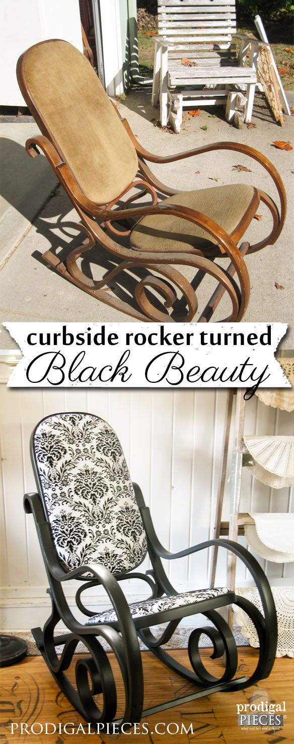 Tired Bentwood Rocker Becomes Black Beauty by Prodigal Pieces | www.prodigalpieces.com