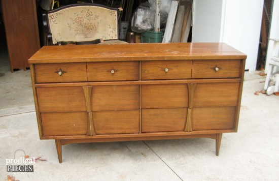 This Tired Looking Mid Century Modern Bassett Credenza Gets Some Color Fun  With A Pop
