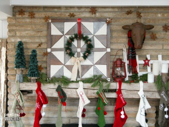 Rustic Faux Barn Wood Quilt for your Wall or Mantel by Prodigal Pieces | www.prodigalpieces.com