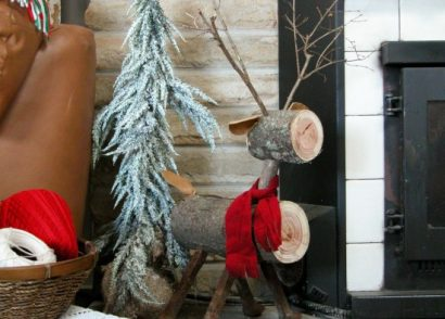 Create a rustic repurposed log reindeer in a few simple steps following this DIY tutorial by Prodigal Pieces www.prodigalpieces.com #prodigalpieces