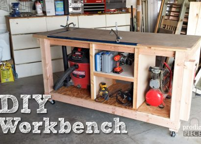 Build a DIY Workbench Assembly Table by Prodigal Pieces | www.prodigalpieces.com