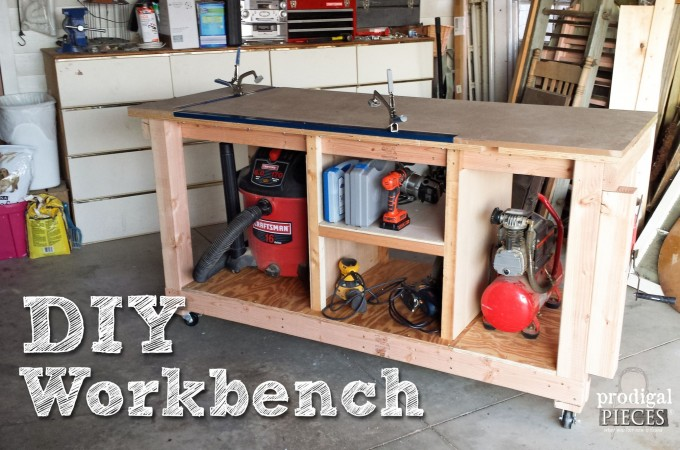 Build a DIY Workbench Assembly Table by Prodigal Pieces   www.prodigalpieces.com
