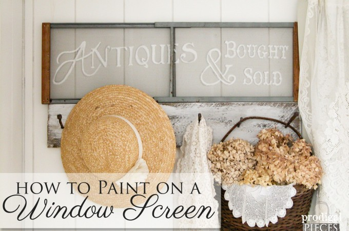 How to Paint on a Window Screen   Prodigal Pieces   www.prodigalpieces.com