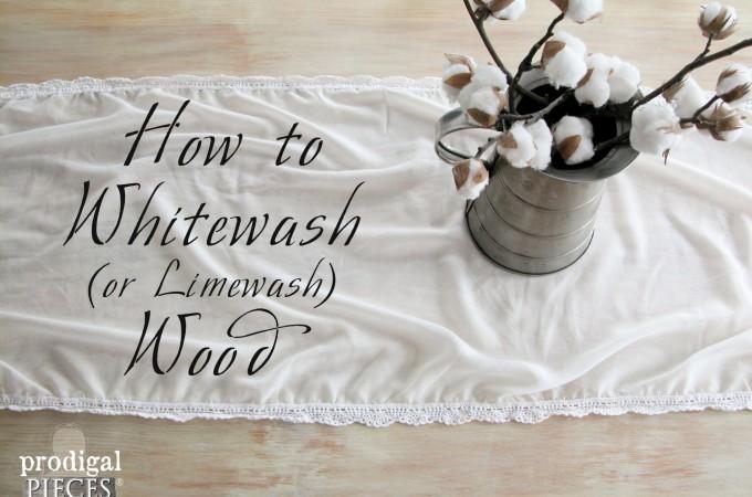 How to Whitewash (or Limewash) Wood by Prodigal Pieces   www.prodiglpieces.com