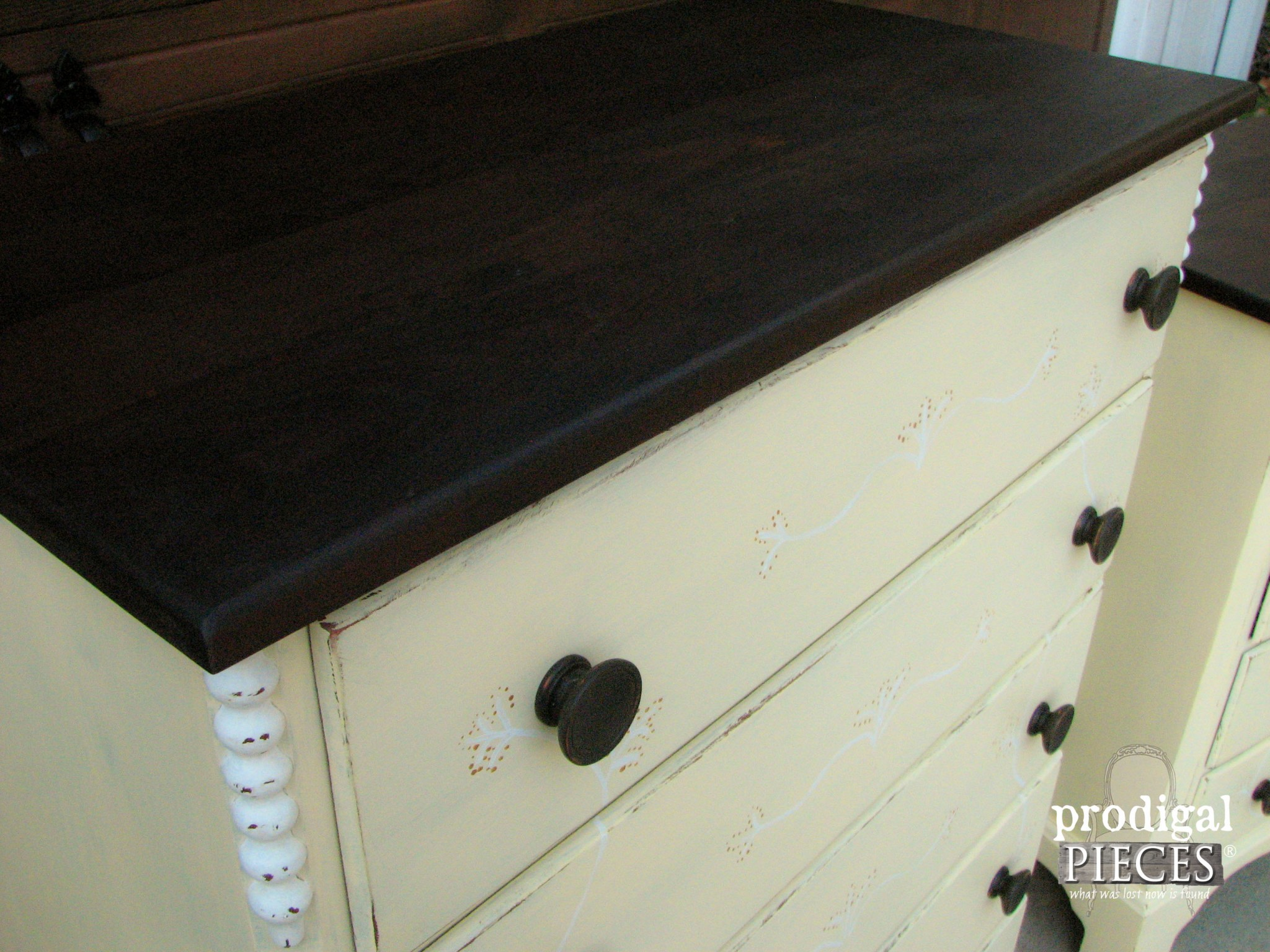 Espresso Stain on Bedroom Set Tops | Prodigal Pieces | www.prodigalpieces.com