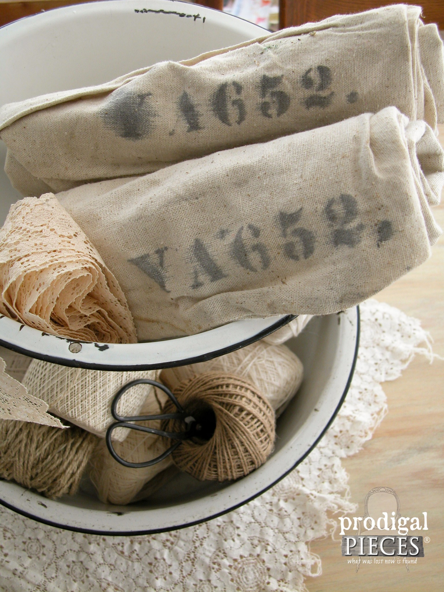 Vintage Flea Market Feed Sacks | Prodigal Pieces | www.prodigalpieces.com
