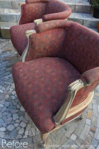 Vintage Arm Chair Makeover by Confessions of a Serial DIYer