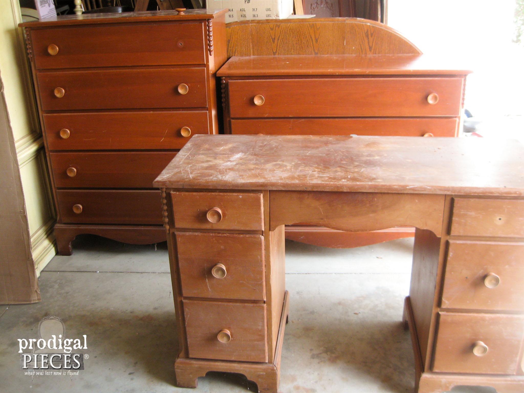 Vintage Cherry Bedroom Set Reunited | Prodigal Pieces | www.prodigalpieces.com
