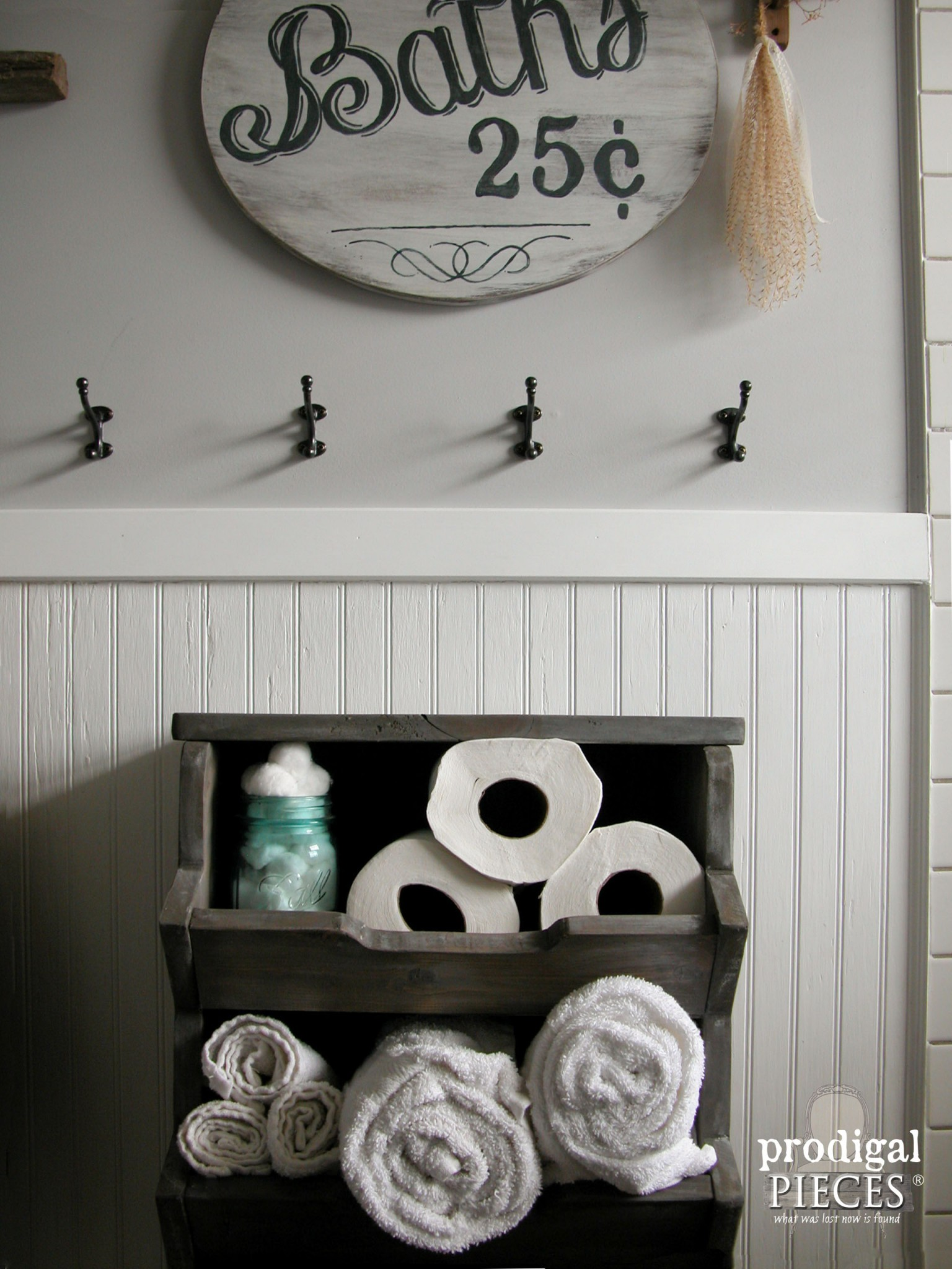 Bathroom Wooden Storage Bin Tutorial by Prodigal Pieces | www.prodigalpieces.com