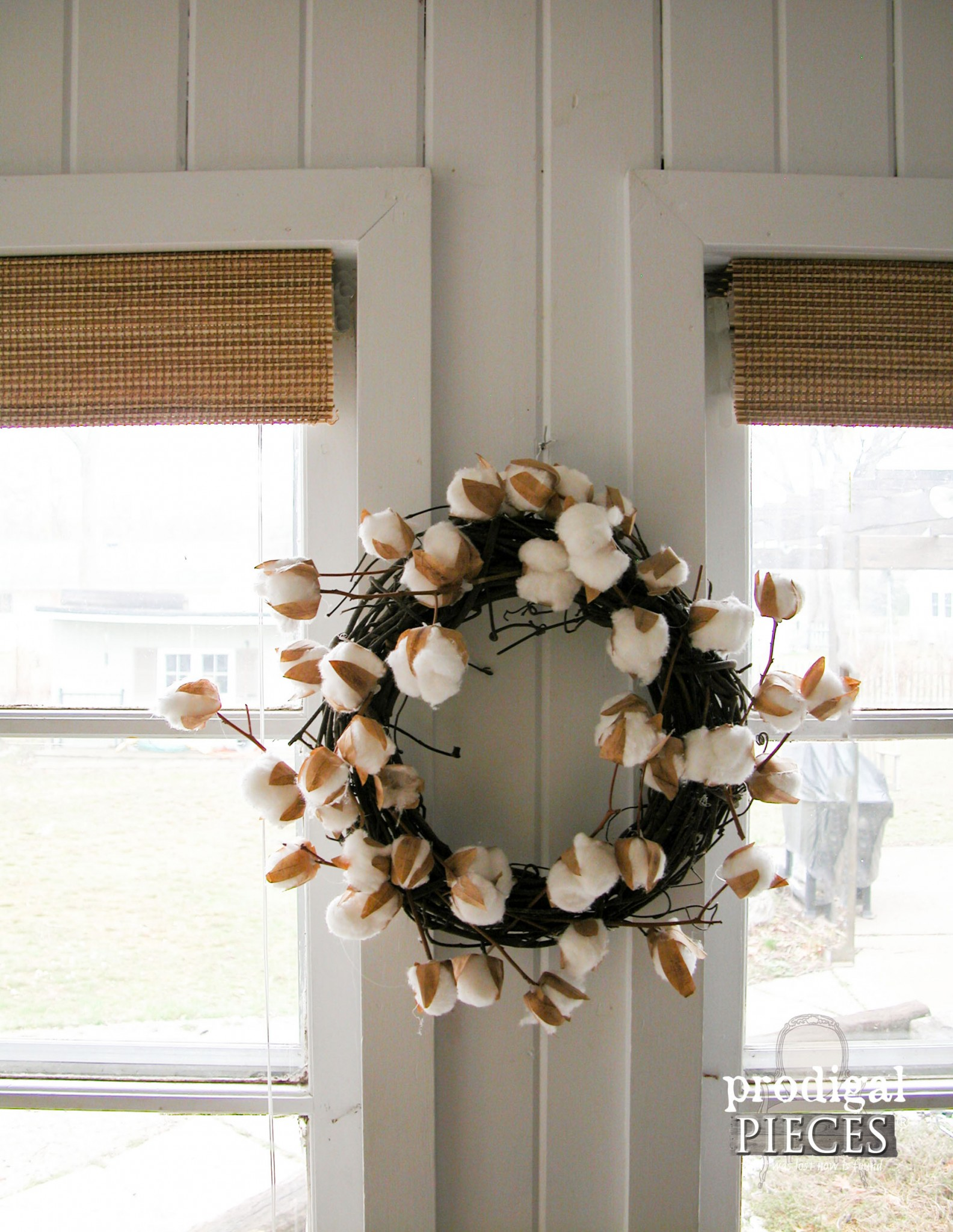 DIY Budget Window Treatment with Faux Bamboo Shades | Prodigal Pieces | www.prodigalpieces.com