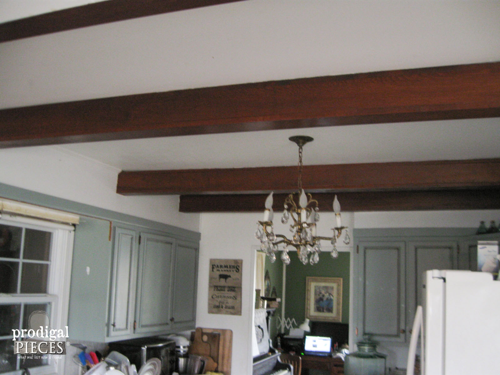 Faux Barn Beams in Kitchen | Prodigal Pieces | www.prodigalpieces.com