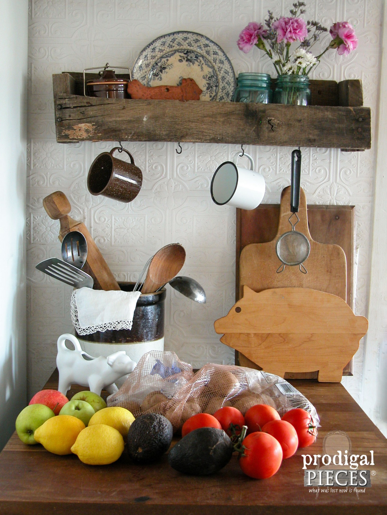Kitchen Counter Clutter Before Storage Bin | Prodigal Pieces | www.prodigalpieces.com