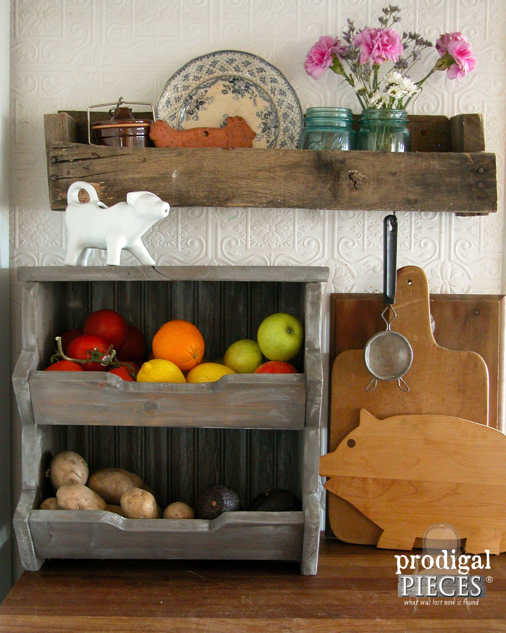 DIY Kitchen Storage Bin with Free Plans by Prodigal Pieces | www.prodiglapieces.com