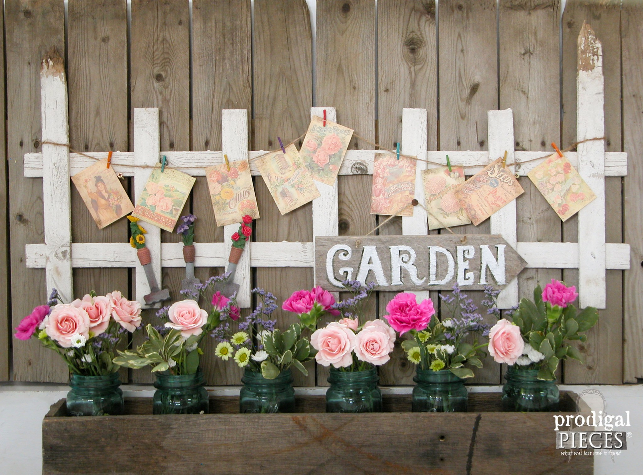 Repurposed Garden Decor From Curbside Picket Fence By Prodigal Pieces |  Www.prodigalpieces.com