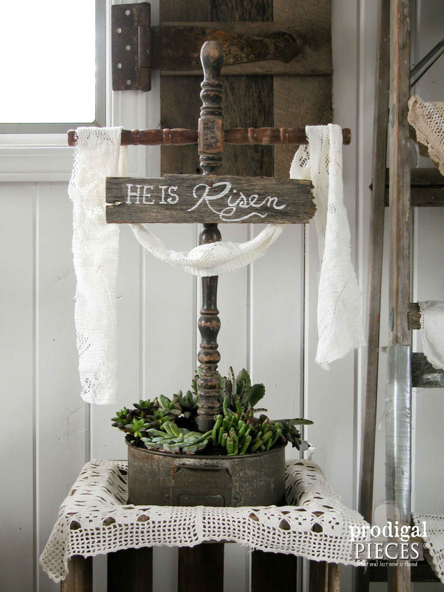 Repurposed Easter Cross from Salvaged Junk by Prodigal Pieces | www.prodigalpieces.com