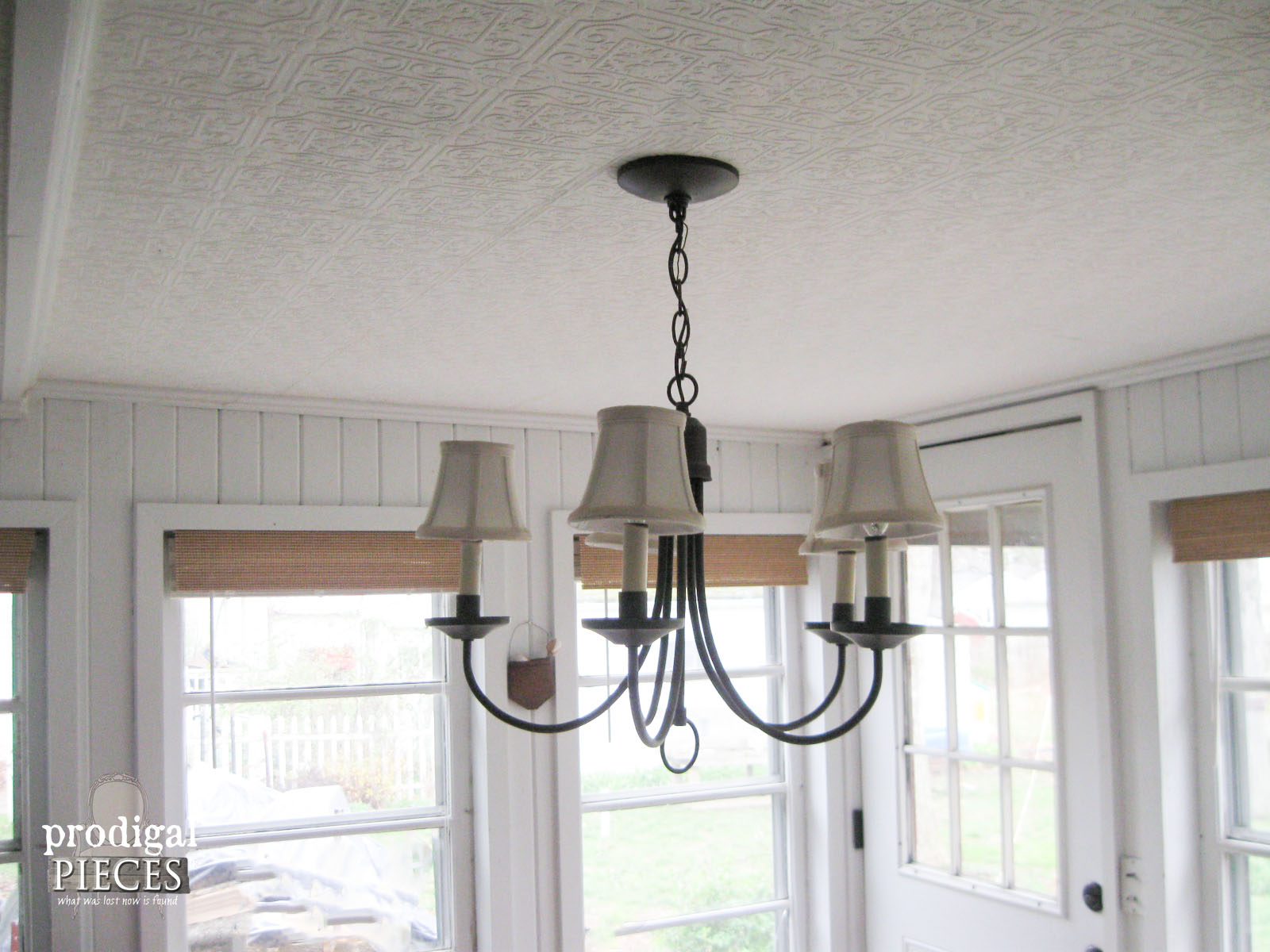 Dining Area Chandelier Before Kitchen Remodel | Prodigal Pieces | www.prodigalpieces.com