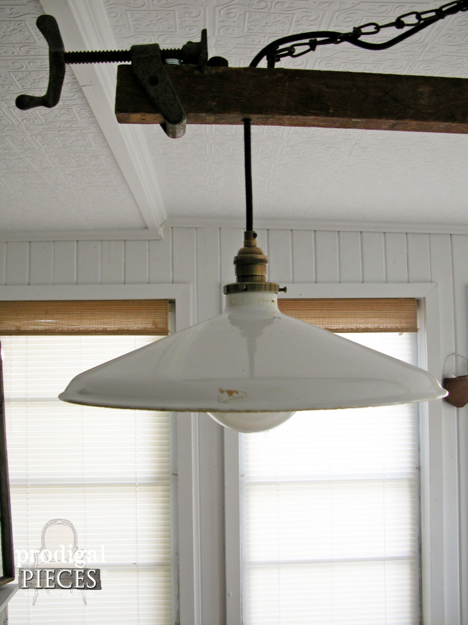 DIY Farmhouse Lighting ~ Kitchen Remodel Continues - Prodigal Pieces