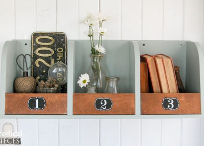 Featured Storage Bins from Repurposed Kitchen Cabinet | Prodigal Pieces | www.prodigalpieces.com