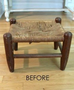 Thrifted Stool Makeover by Artsy Chicks Rule