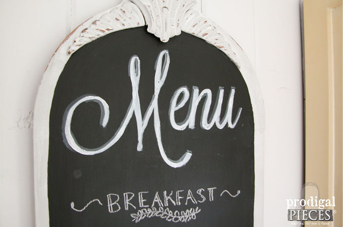 Featured Chalkboard Menu by Prodigal Pieces | www.prodigalpieces.com