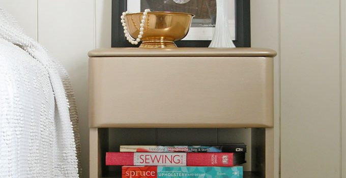 Modern Chic Makeover for Art Deco Nightstand