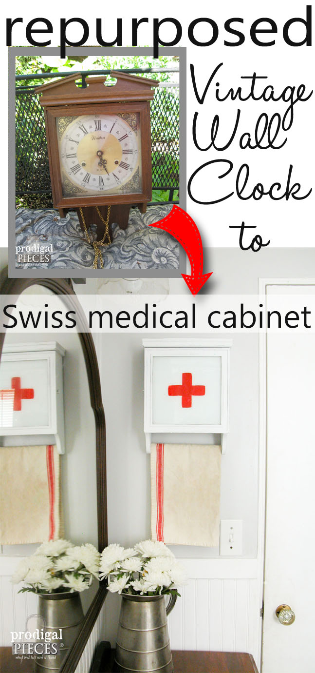 Curbside Wall Clock Gets New Life as Swiss Medical Cabinet by Prodigal Pieces | www.prodigalpieces.com