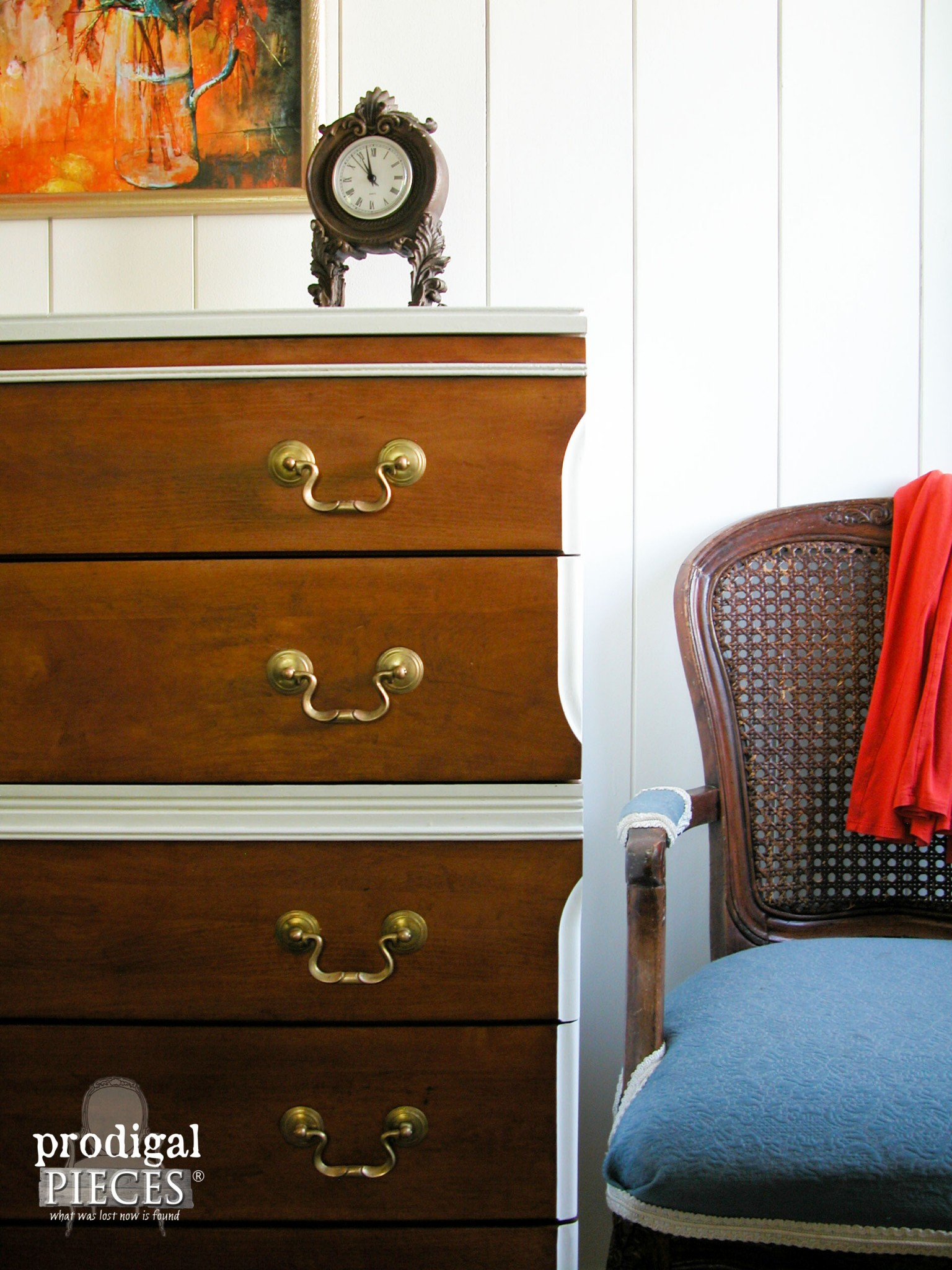 Side of Mid Century Modern Chest by Prodigal Pieces | www.prodigalpieces.com
