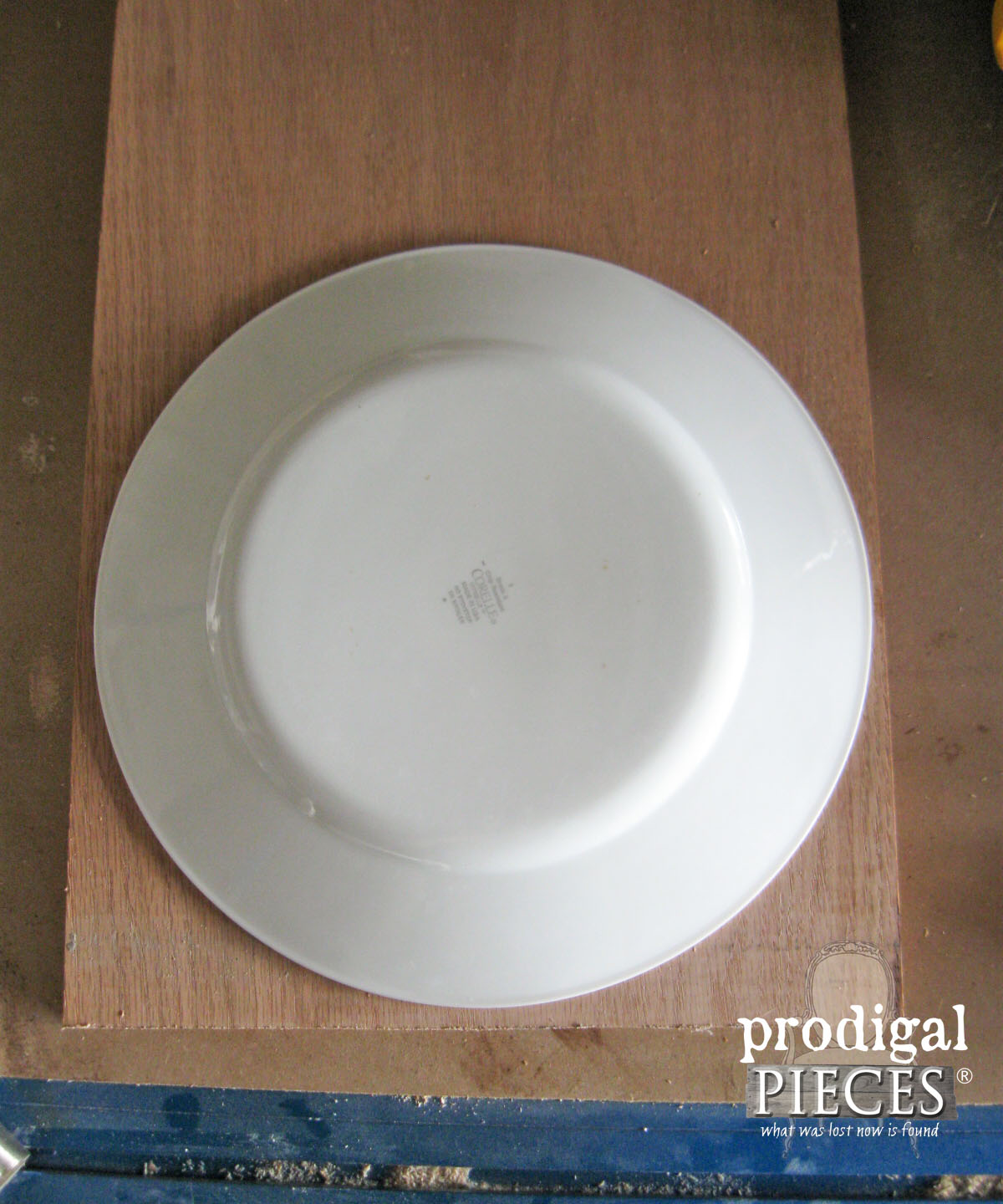 Tracing Dinner Plate for Cheese Board | Prodigal Pieces | www.prodigalpieces.com