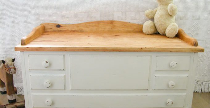 Wooden Chest Made Farmhouse Chic