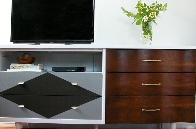 Featured Mid Century Modern Entertainment Console by Prodigal Pieces | www.prodigalpieces.com