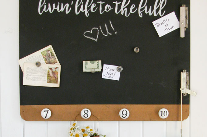 Featured Magnetic Message Board by Prodigal Pieces | www.prodigalpieces.com
