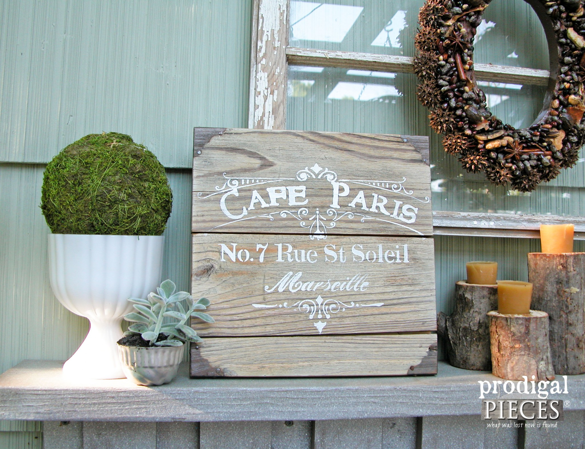 Cafe Paris Reclaimed Wood Sign by Prodigal Pieces | www.prodigalpieces.com