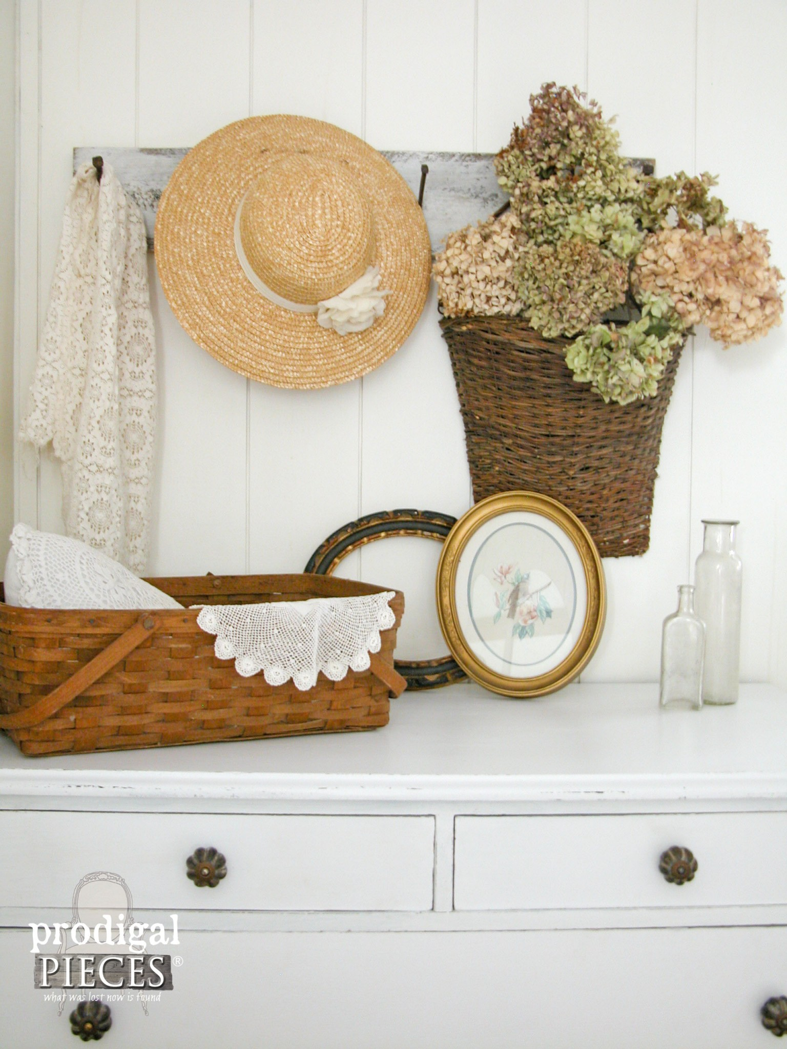 Rustic Farmhouse Chic Cottage Style Vignette by Prodigal Pieces | www.prodigalpieces.com